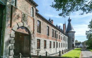 Magnificient castle of the Chateau de Bioul winery