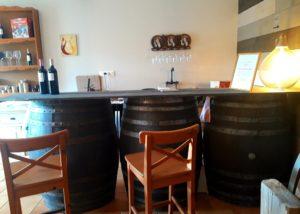 Tasting room at the chateau La Rose Monturon winery