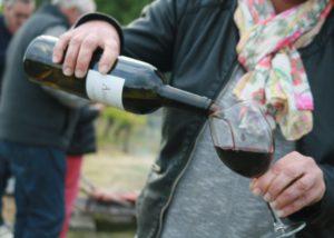 Wine tasting chateau La Rose Monturon winery