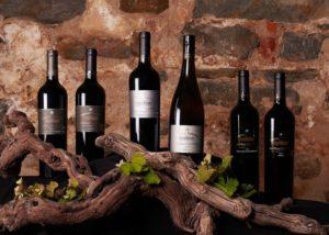 Wine bottles of Chateau Tanunda winery