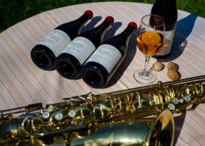 Four wine bottles of the Chona's Marani winery
