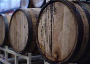 Wine barrels at Degani F.lli di Degani Aldo winery