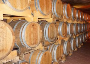 Cellar room of the Degrassi winery