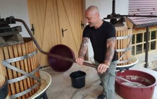 Winemaker of Demetervin at Work