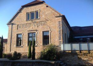 Two storied building of Die Weinmacher Niederkirchen winery.