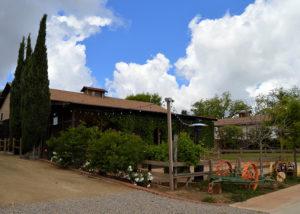 Beautiful garden of Forgotten Barrel Winery