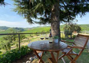 Tasting area of the Fratelli serio & battista borgogno winery