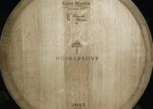 Wine barrel of Hopesgrove winery