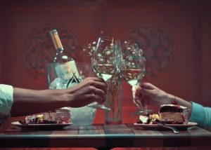 Two people tasting wine at Karas Wines winery