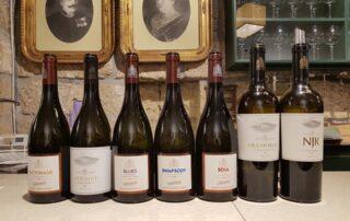 Seven wine bottles of the Kovács Nimród Winery