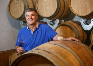 Winemaker in cellar of the KROLO WINERY