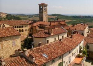 View of the village of the La casaccia winery
