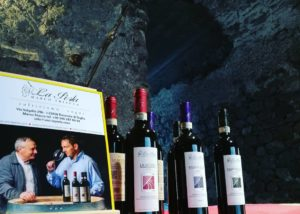 Wine bottles of the La Perla Di Marco Triacca winery