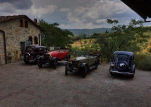 Vintage cars at the Le Fonti - Panzano winery