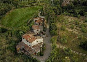 The magnificient winery estate of Le Fonti - Panzano