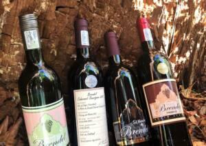 fout bottles of wine by le manoir de brendel