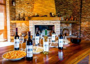 Wine tasting setting at Ltd Winery Chelti winery