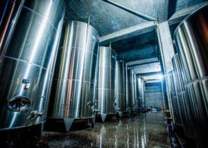 Wine tanks of Ltd Winery Chelti