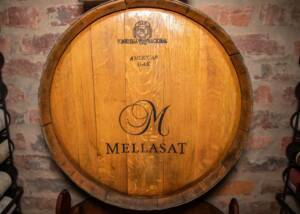 barrel at mellasat vineyards