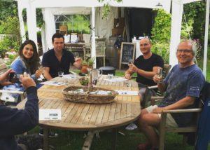 People enjoing their tasting session at Oatley vineyard