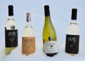 Variety of wine by Oatley vineyard
