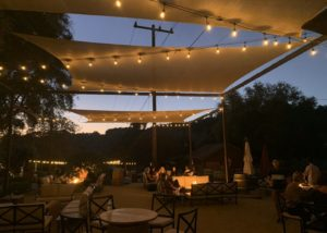 restaurant of old creek ranch winery during evening
