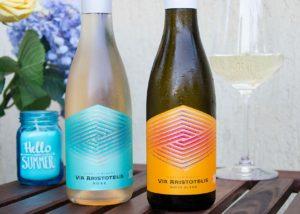 Wine bottles of the orbelia winery