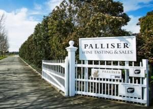 Signboard of Palliser Estate Wines winery