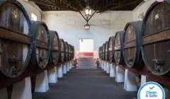 Cellar room of Quinta do Sanguinhal winery