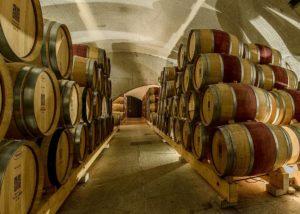 Wine barrels inside the Quinta do Vallado winery