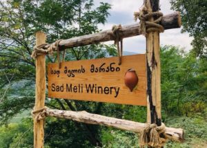 Signboard of the Sad Meli Winery