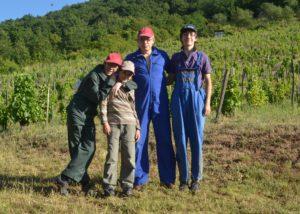 Winemakers of the Samuel Tinon Tokaj winery