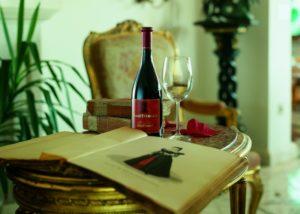 Wine bottle of Santomas Winery