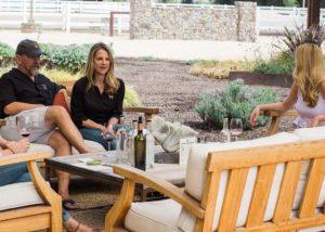 People enjoying thier wines at Tamber bey vineyards