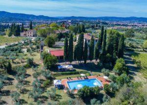 Estate view of the Tenute San Fabiano - Conti Borghini Baldovinetti de' Bacci winery