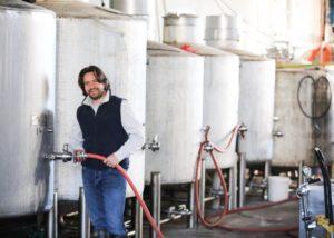 Tanks inside the Tractorless Vineyard winery