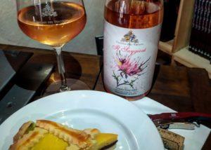 Food and wine tasting at uisglian del vescovo winery