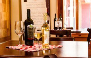 Restaurant inside the Viña El Escorial winery
