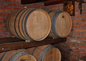 Wine barrels of the Vina Kosutic winery