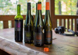 Wine bottles of the Vina Kosutic winery