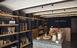 Very pretty wine shop at Viñedo Rivero Gonzalez