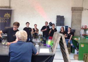 People at Weingut jakob neumer winery tasting wines