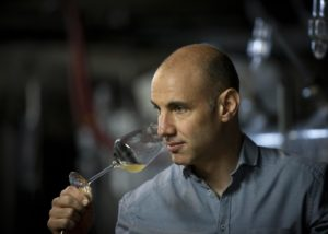 tasting wines at weingut peter lauer