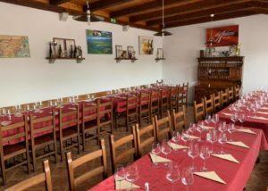 Wine tasting room at Zaloščan vina De Adami winery