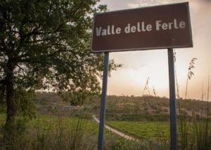 Tenuta Valle delle Ferle sign in front of the estate