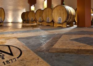 antichi vinai winery barrel cellar sicily