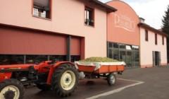 puianello e coviolo red tractor near estate in lovely italy