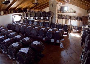 Barrels In The Cellar Of Acetaia Leonardi Winery