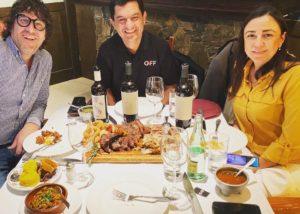 Three People Tasting Wine With Food At Altavins Viticultors Winery