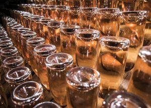 Wine Bottles At Arunda Winery